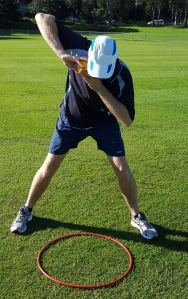 Image of the Shot Put Slam Starting Position