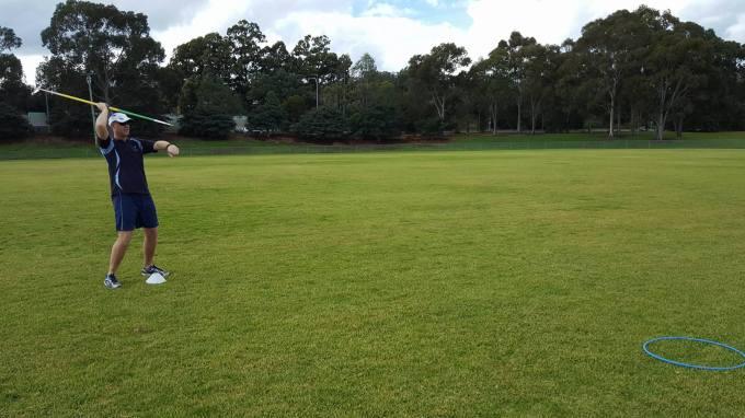 Standing Javelin Throw at Hoop