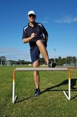 Hurdler incorrectly swing lead leg out to the side