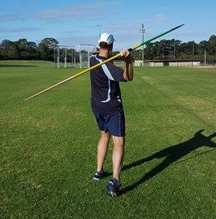 Javelin directed too far out to the side