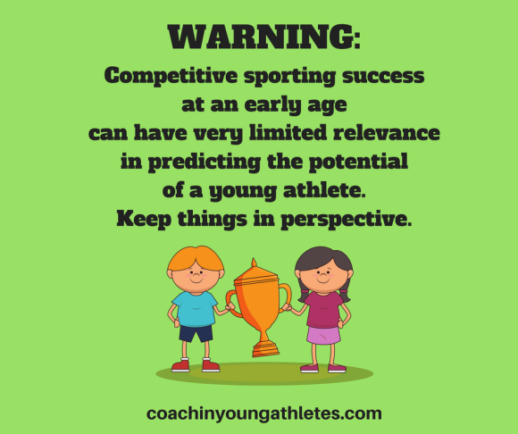 Competitive sporting success at an early age can have very limited relevance - Facebook