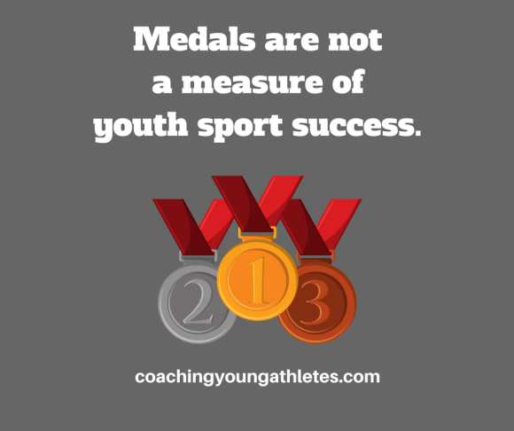 Medals are not a measure of youth sport success