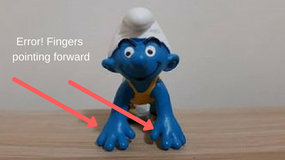 Smurf Error! Fingers pointing forward front, Blog Graphic