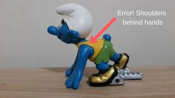 Smurf Error! Shoulders behind hands