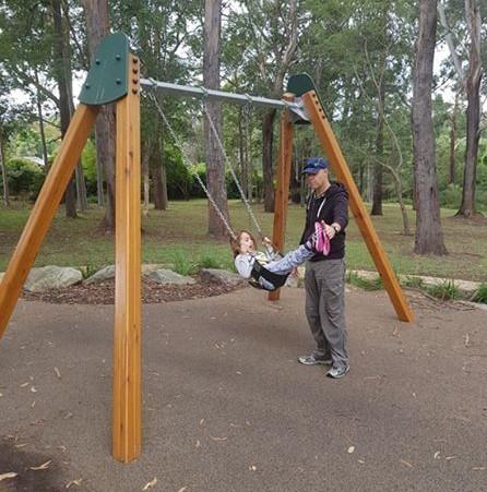 Amelia on swing