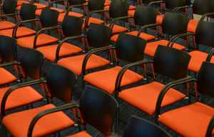 photo of orange chairs